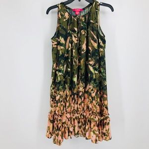 Catherine Malandrino, M, Olive & Pink, Dress